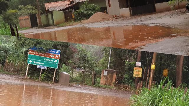 Estradas de Brumadinho viram verdadeiras lagoas
