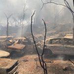 Incêndio destrói veículos em pátio abandonado